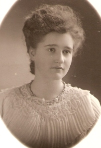 Osa Copeland Hughes. 1906 Los Angeles High School senior photo.