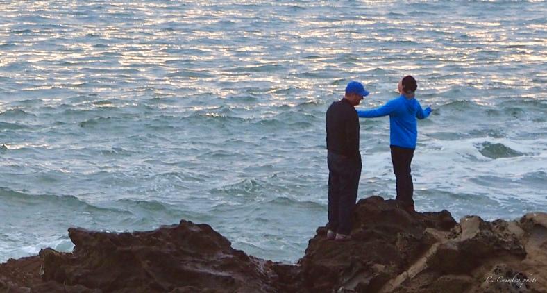 Joy at water's edge
