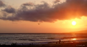 Sunset walks along Jalama Beach